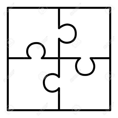 4 puzzle template 4 puzzle clipart