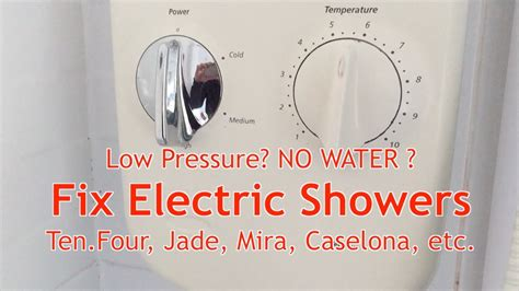 fix electric showers   water   pressure