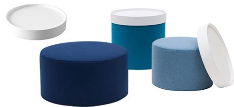 things that work the drum pouf series by softline at home with vallee