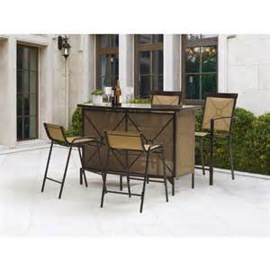 buy mainstays palmerton landing 5 piece bar height patio
