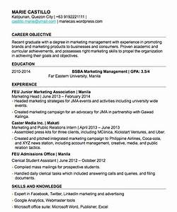 Resume Sample For Fresh Graduate In The Philippines