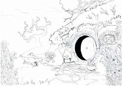 Hobbit Coloring Pages Getcolorings Printable