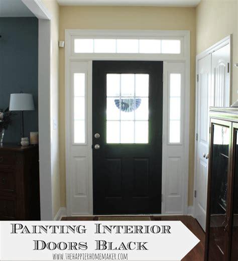 painting interior doors black  happier homemaker