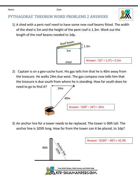 worksheet easy pythagorean theorem worksheet worksheet