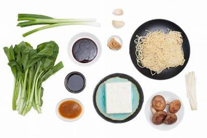 Ramen Tofu Miso Hoisin Glazed Shiitake Ingredients