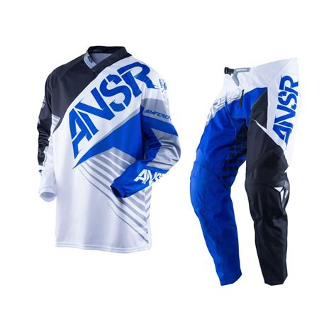 infant motocross answer syncron white black blue motocross pants jersey