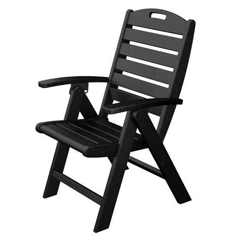 trex outdoor furniture yacht club charcoal black highback