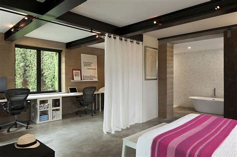 Master Bedroom Office Space by Expansive California Home Blends Privacy With A Lovely