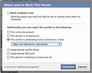 How to Report a Fake Facebook Profile | Fake Facebook Profiles