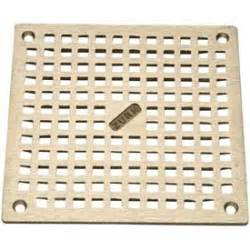 zurn 10 quot x 10 quot square floor drain w screws nickel