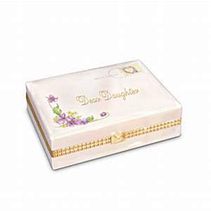 dear daughter collectible porcelain music box gift for With letter shaped gift box