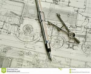 Vintage Drawing Tools Stock Photo  Image Of Engineering