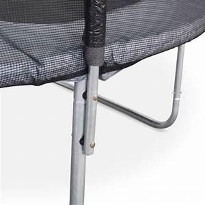 Filet De Protection Jardin : trampoline 430cm v nus gris avec son filet de protection trampoline de jardin 430 cm 4m ~ Dallasstarsshop.com Idées de Décoration