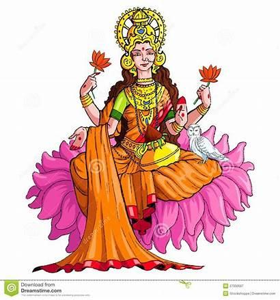 Lakshmi Goddess Clipart Vector Illustration Godess Clip