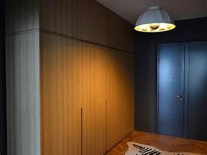 meuble d39entree avec porte derobee ateliers courtois With porte d entrée pvc avec meuble salle de bain avec prise intégrée