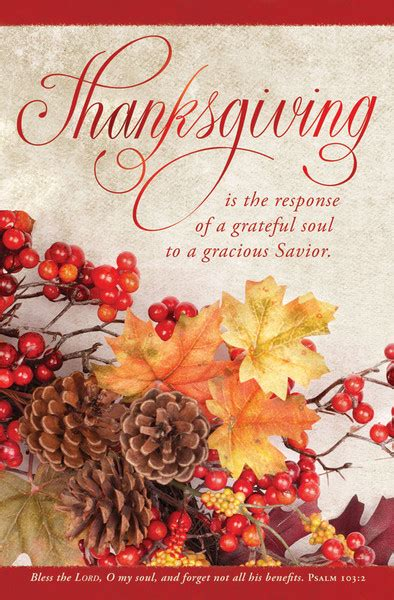church bulletin  fall thanksgiving pack