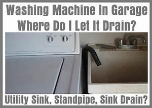Washing Machine In Garage