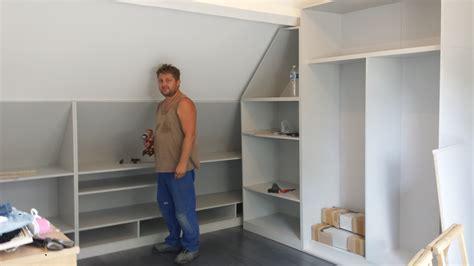 armoire chambre à coucher dressing en l sous comble ebene