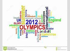 Olympics 2012 London Summer Games Word Cloud Royalty