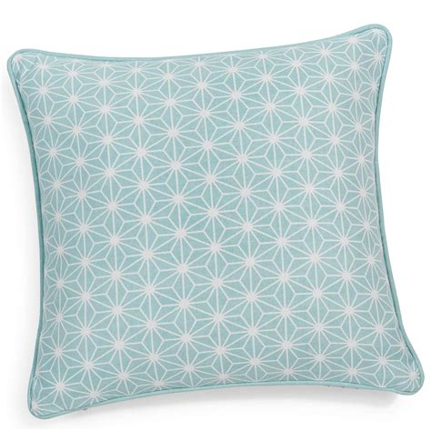 housse canapé maison du monde housse de coussin en coton bleue 40 x 40 cm maisons
