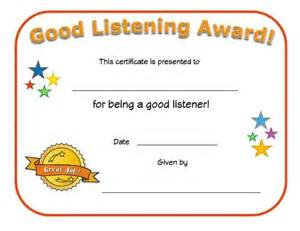 Good Listening Certificate