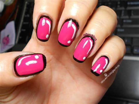Cartoon Nails Nail Art By Aby