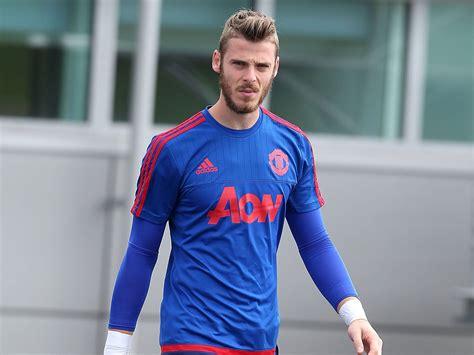 Buy Spain 1 De Gea Blue Goalkeeper Long Sleeves Soccer
