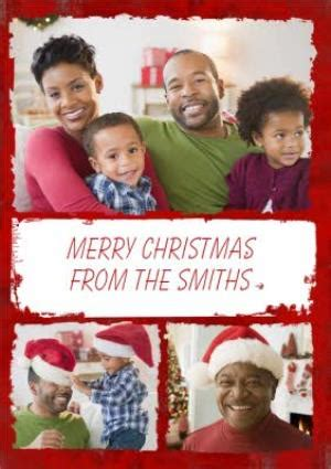 border from family personalised photo upload merry christmas card moonpig