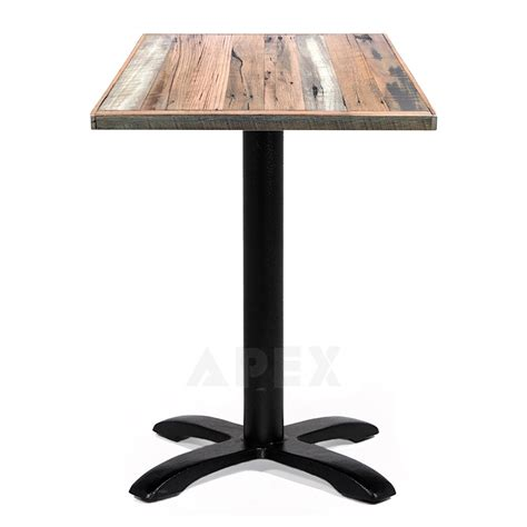Alvina Recycled Timber Industrial Cafe Table