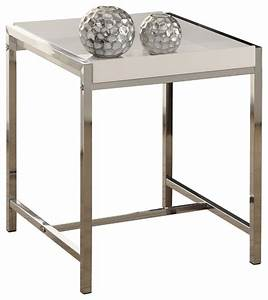 white acrylic chrome metal accent table contemporary With white acrylic coffee table