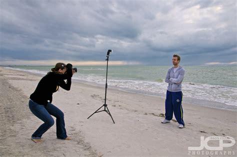 camera flash strobist beach portrait photography