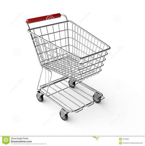 empty shopping cart stock photography image