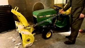 John Deere 185 Snowblower Lift