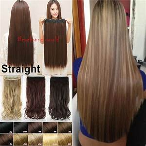 Free Shipping Real Thick 30 Inch One Piece Clip In Hair