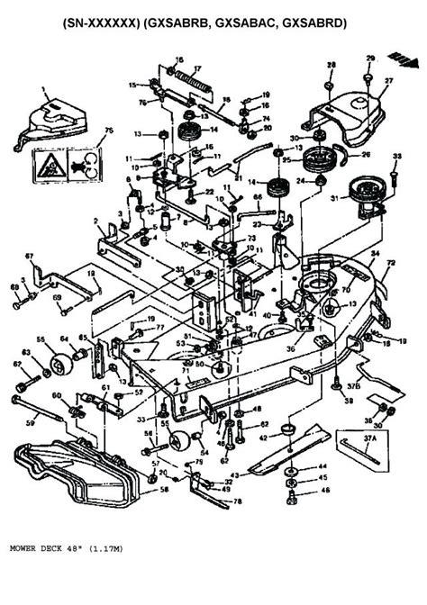 John Mower Deck Parts Diagram Riding Deere House