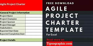 Project Charter Gantt Chart Agile Project Charter Template For Excel Free Download