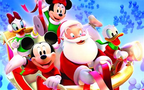 Disney Christmas Wallpapers Hd Mickey Mouse With Santa