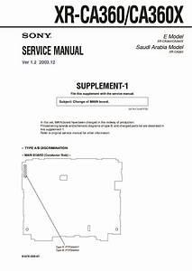 Sony Xr-ca360  Xr-ca360x Service Manual