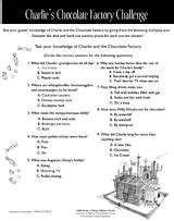 39 s chocolate factory challenge quiz printable 2nd 5th grade teachervision