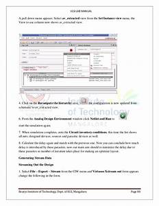 Vlsi Lab Manual For 7th Sem Ece Using Cadence Electronics And Communication Engineering Velagapudi