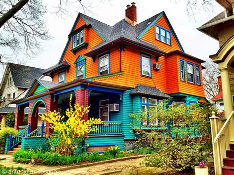 Colourful House by Colorful Houses Of Ditmas Park In