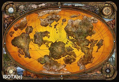 steampunk map by Monkey Paw.deviantart.com on @DeviantArt