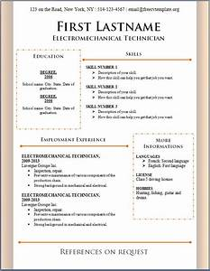Free cv template 86 to 92 free cv template dot org for Free resume format in word