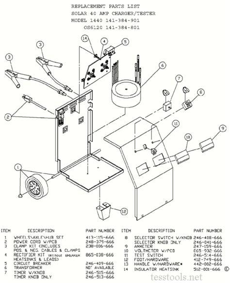 Clore Solar Century Battery Charger Part List
