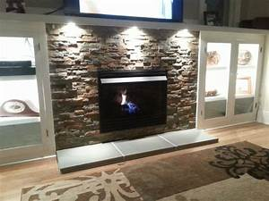 Gas Log  Gas Log Fireplace Insert With Blower