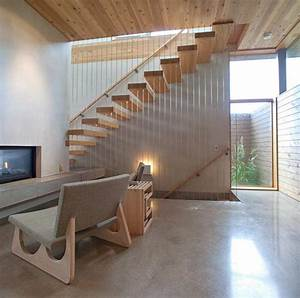 Modern, House, Design, With, Warm, Wooden, Interiors, And