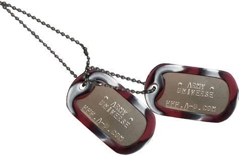 matte custom embossed stainless steel dog tags