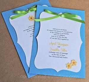 daisy wedding invitations diy ideas and templates With do it yourself wedding invitations ideas free