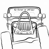 Jeep Drawing Wrangler Road Sketch Jeeps Coloring Behance Template Offroad Credit Larger sketch template