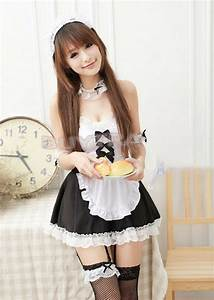Sexy Girl's Maid Lolita Uniform Halloween Costume Dress ...